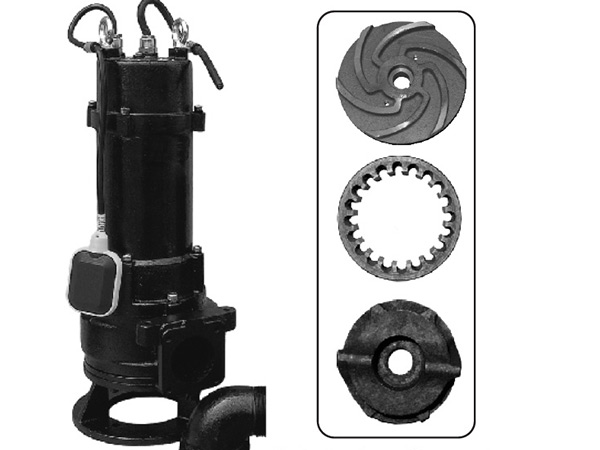 Submersible sewage pump with grinder system