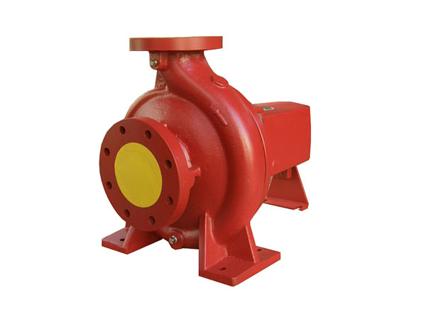 End suction pump for fire fighting
